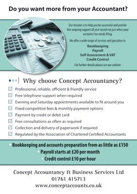 Concept accountancy flyers double sided a4 full colour flyers