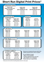 Digital Print Price Guide