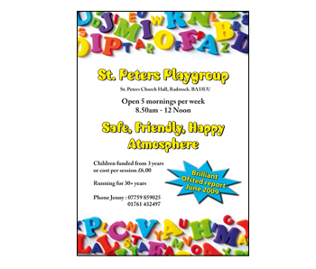 st peters playgroup flyer